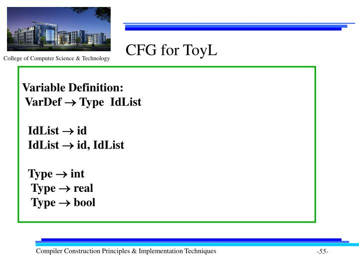 CFG for ToyL
