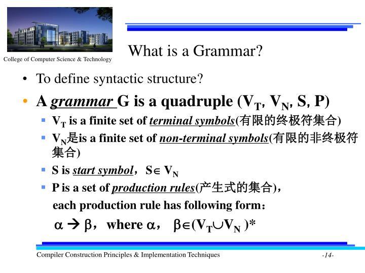 What is a Grammar?