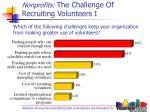 nonprofits the challenge of recruiting volunteers i