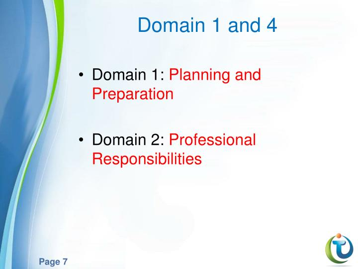 Domain 1 and 4