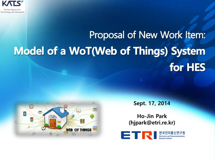 proposal of new work item model of a wot web of things system for hes n.