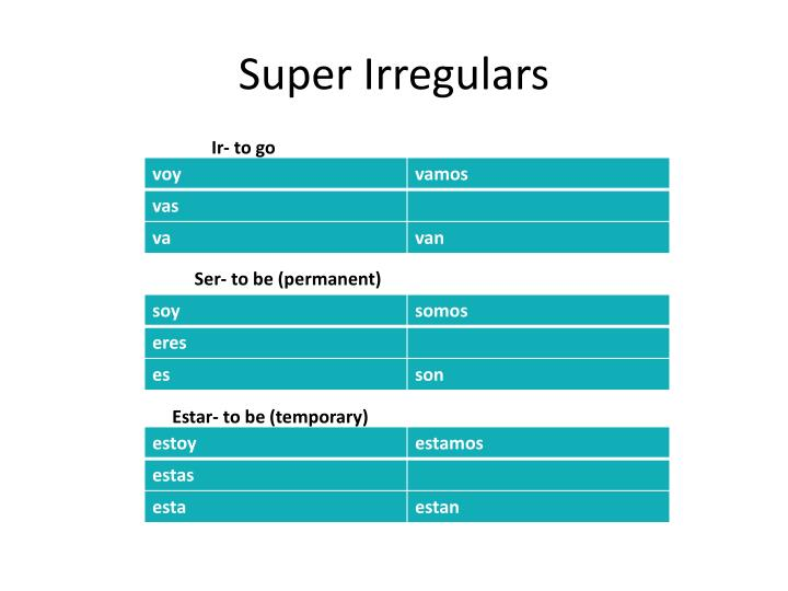 Super Irregulars