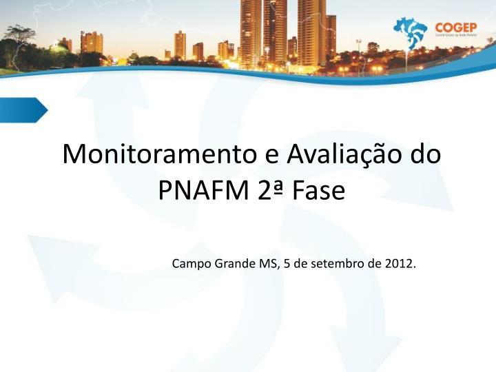 Monitoramento e avalia o do pnafm 2 fase