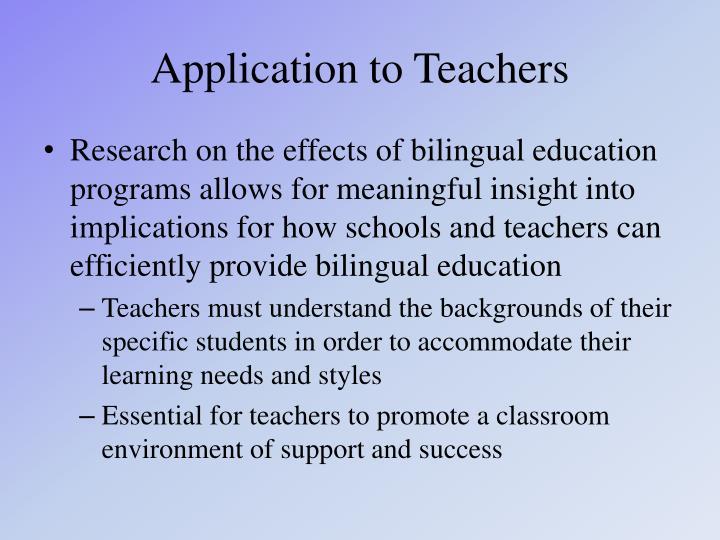 Ppt the benefits of bilingual education powerpoint presentation application to teachers toneelgroepblik Gallery