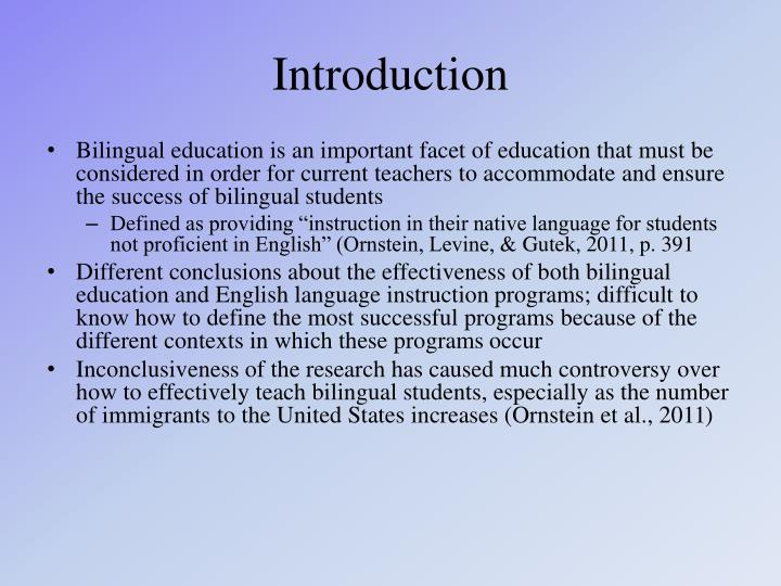 Ppt the benefits of bilingual education powerpoint presentation bilingual education is an important facet of education that must be considered in order for current teachers to accommodate and ensure the success of toneelgroepblik Gallery