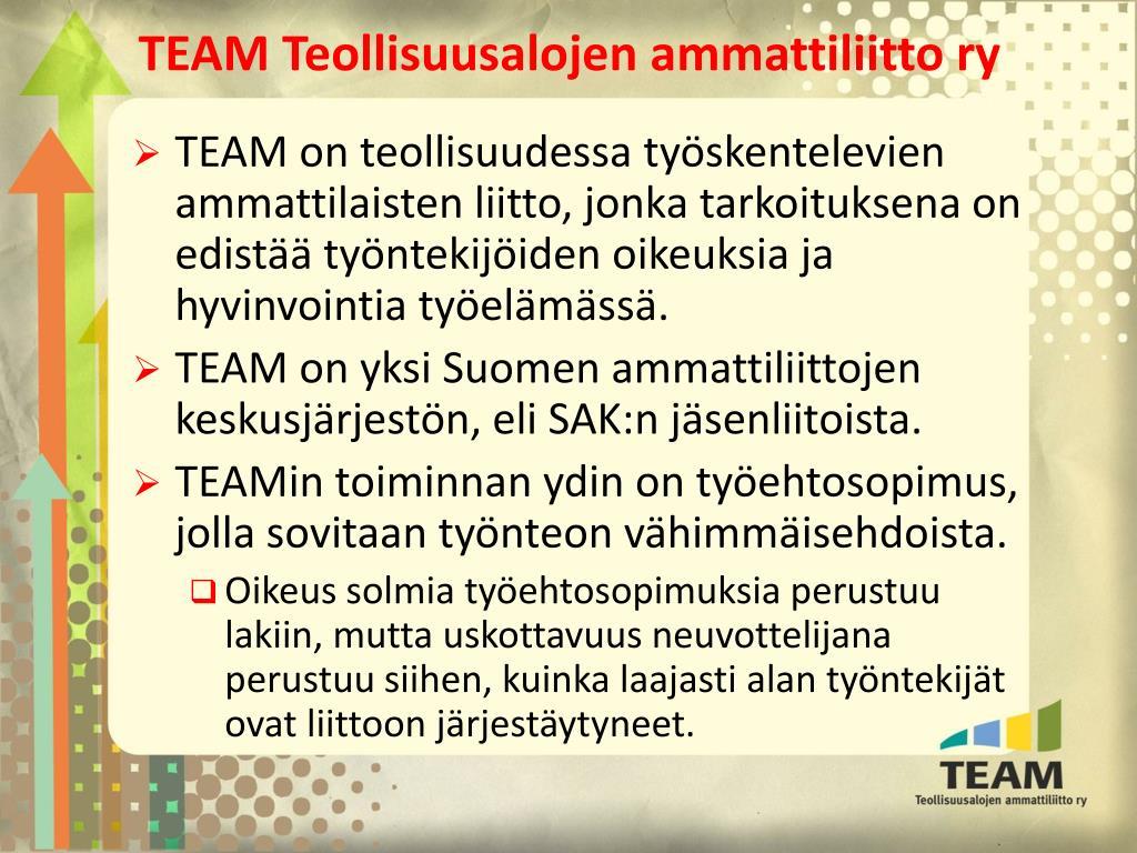 Team Teollisuusalojen Ammattiliitto