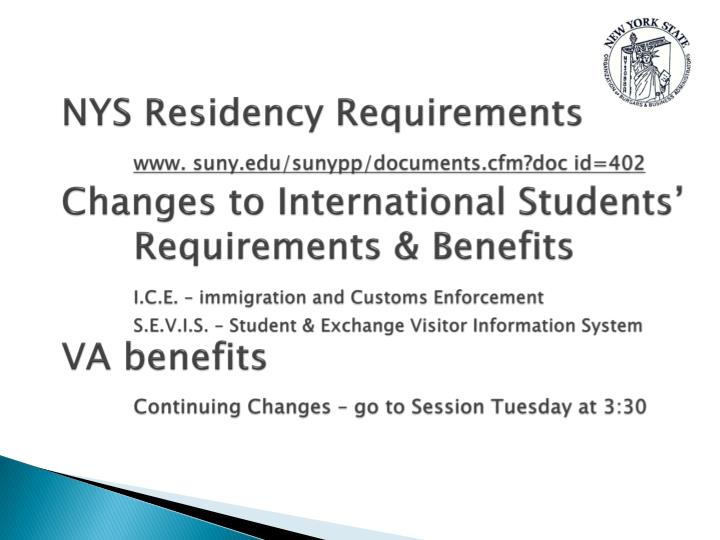 NYS Residency Requirements
