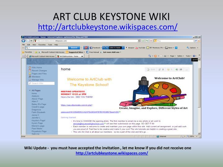 ART CLUB KEYSTONE WIKI