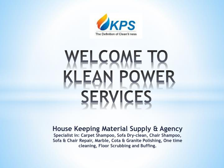welcome to klean power services n.