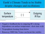 earth s climate tends to be stable despite changes and oscillations