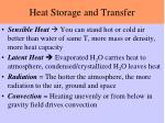 heat storage and transfer1