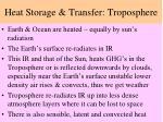 heat storage transfer troposphere