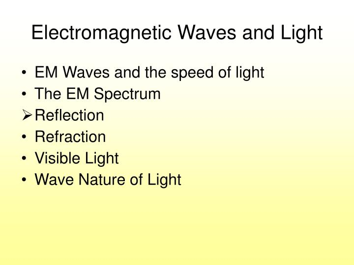electromagnetic waves and light n.