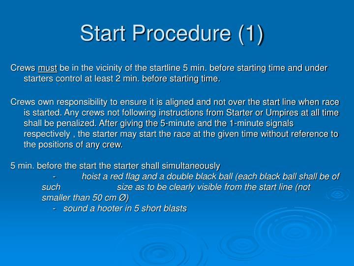 Start Procedure (1)