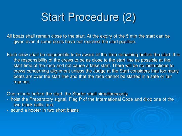 Start Procedure (2)