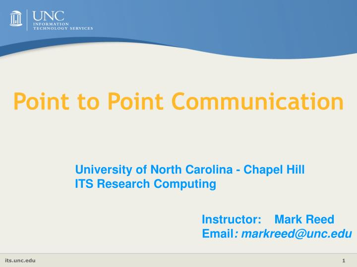 point to point communication n.