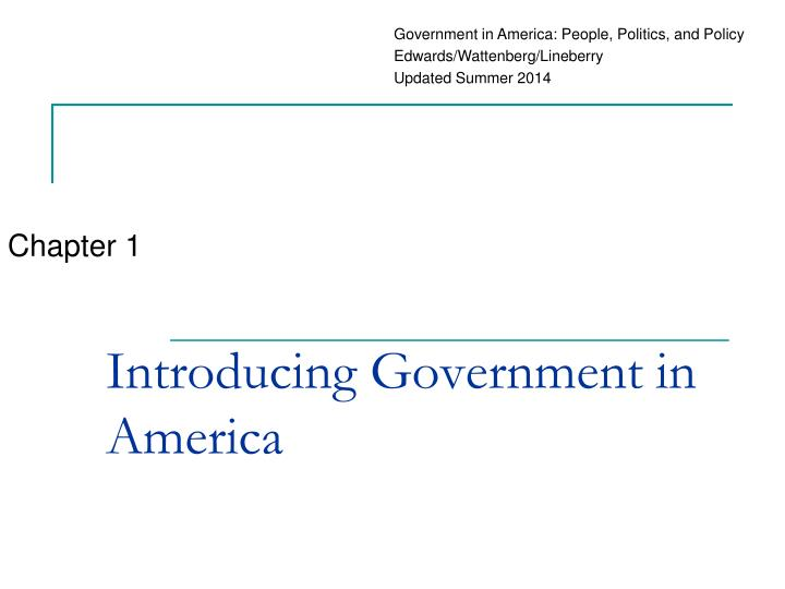 introducing government in america n.