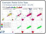 example radar echo tops 1 hr forecast valid 9 june 2010 01 utc