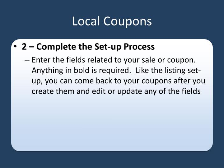 Local Coupons