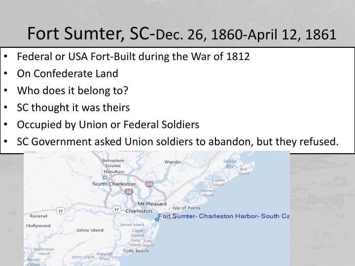 Fort Sumter, SC-
