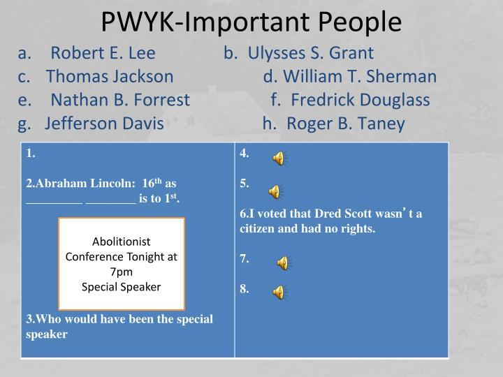 PWYK-Important People