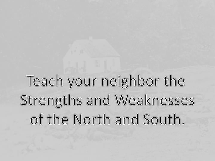 Teach your neighbor the