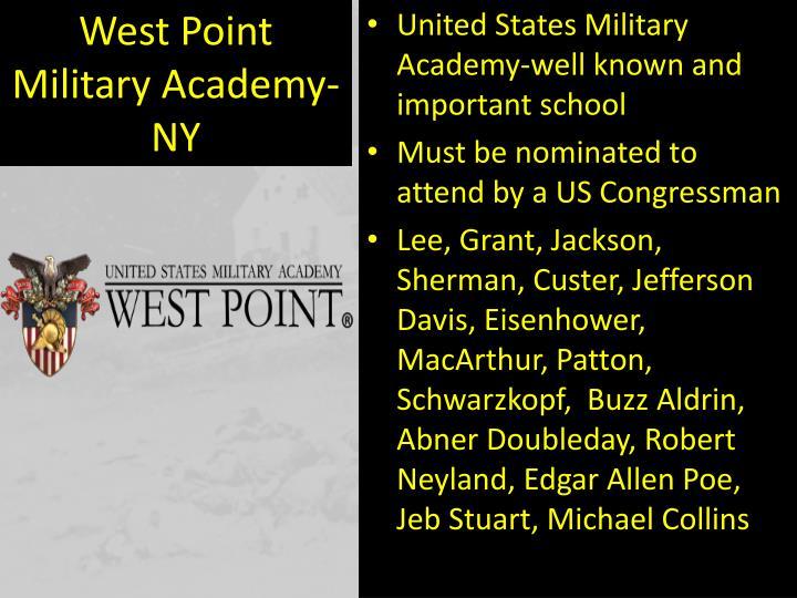 West Point Military Academy-NY