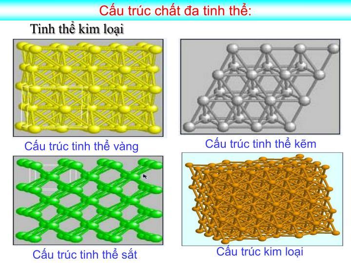 Cấu trúc chất đa tinh thể: