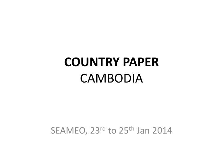 country paper cambodia n.
