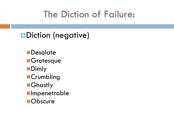 The diction of failure