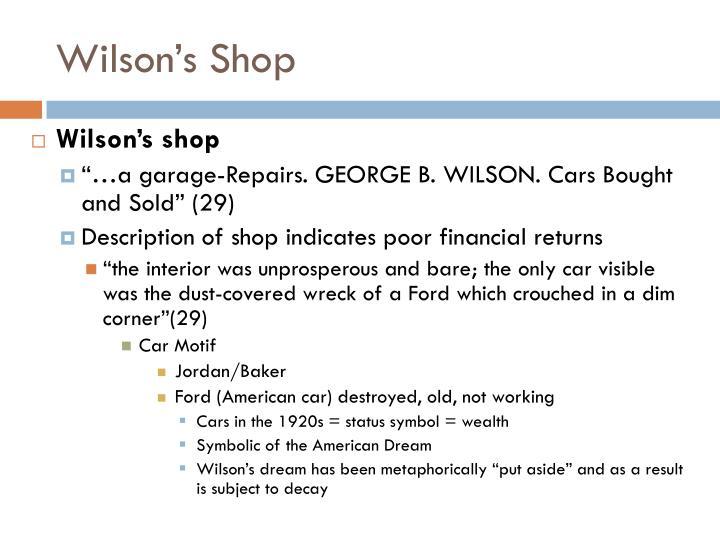 Wilson's Shop
