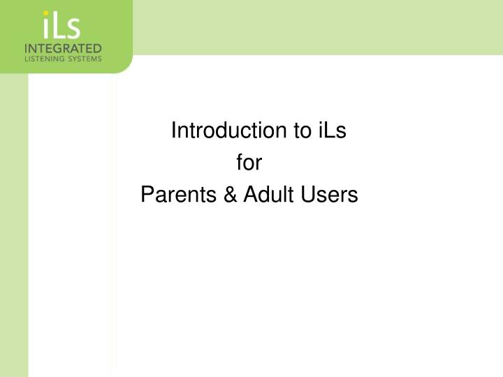 an introduction to the parent expectations