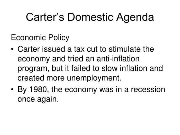 Carter's Domestic Agenda