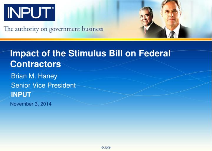 impact of the stimulus bill on federal contractors n.