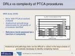 drls vs complexity of ptca procedures