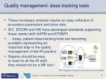 quality management dose tracking tools