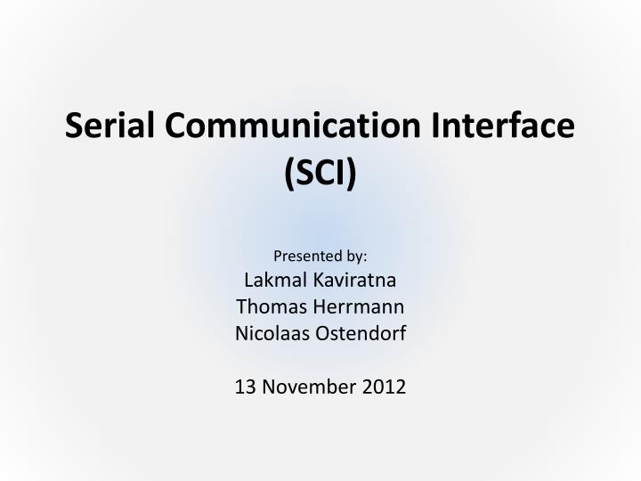 serial communication interface sci n.