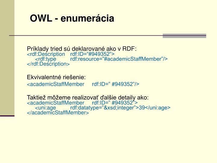 OWL - enumerácia