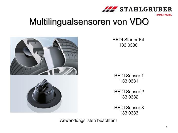 Multilingualsensoren von VDO