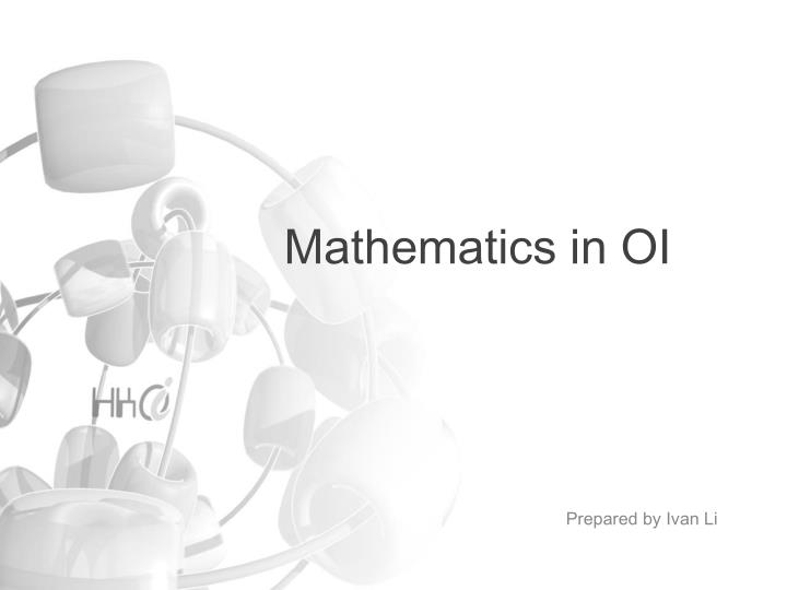 mathematics in oi n.