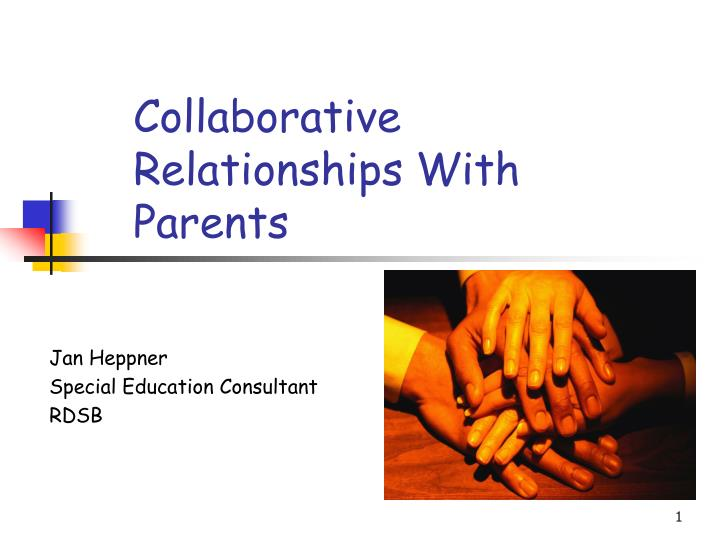 Collaborative Teaching Powerpoint ~ Ppt collaborative relationships with parents powerpoint