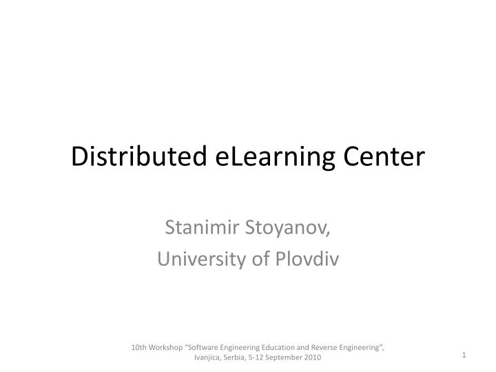 distributed elearning center n.