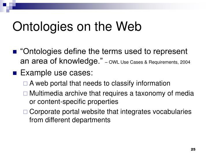 Ontologies on the Web