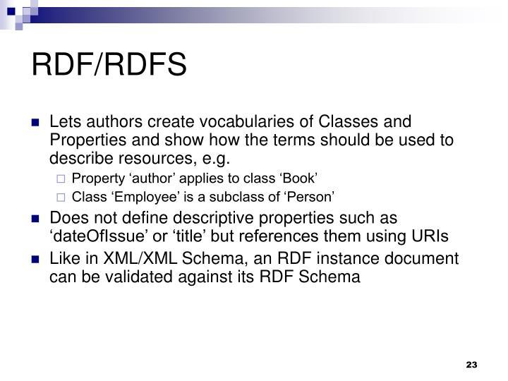 RDF/RDFS