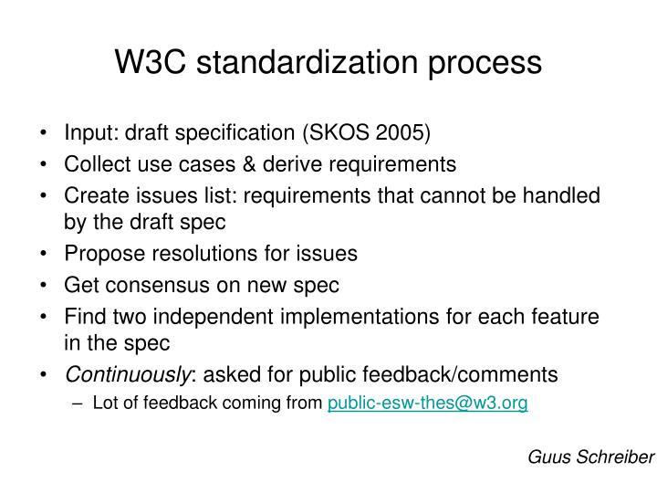 W3C standardization process