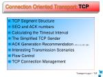 connection oriented transport tcp