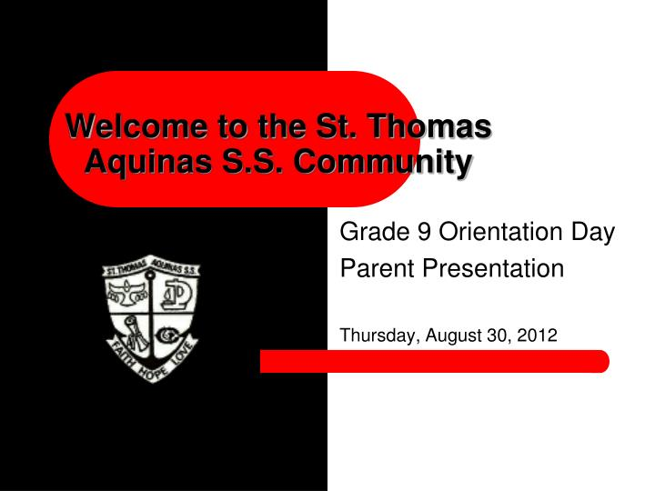 welcome to the st thomas aquinas s s community n.
