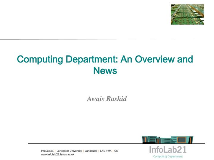 computing department an overview and news n.