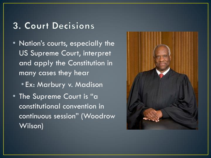 3. Court Decisions