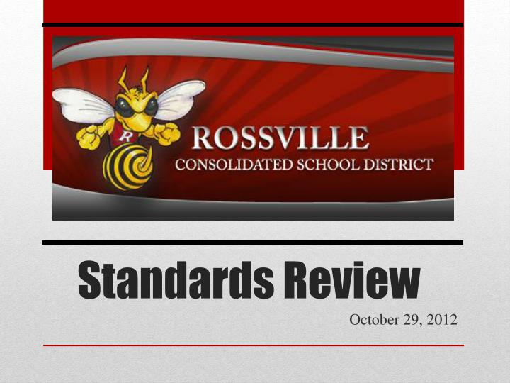 standards review n.